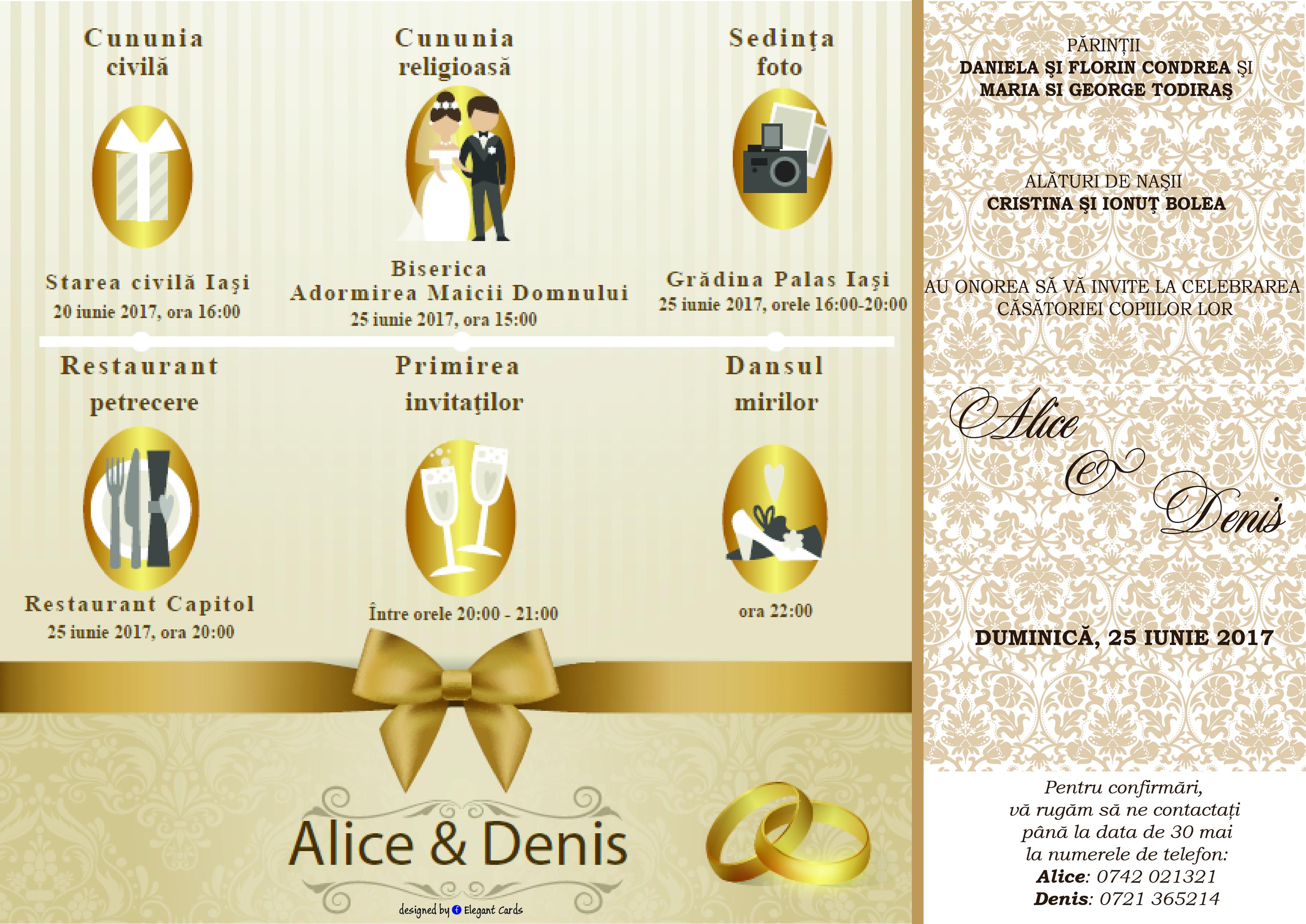 Invitatie De Nunta Electronica M1 Elegant Cards
